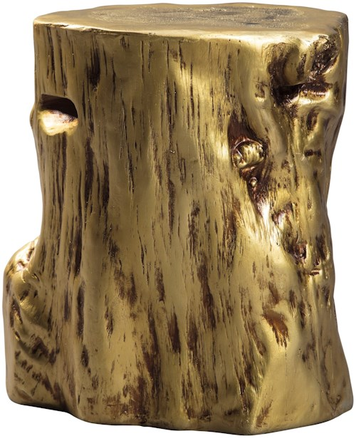 Signature Design by Ashley Majaci Gold Tree Stump Accent Table