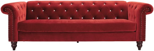 Signature Design by Ashley Malchin Chesterfield Sofa with Diamond Tufting