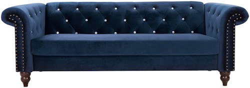 Signature Design by Ashley Malchin Chesterfield Loveseat with Diamond Tufting
