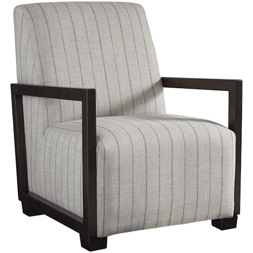Signature Design by Ashley Malgret Contemporary Pinstripe Accent Chair