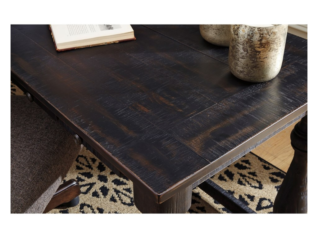Signature Design By Ashley Mallacar H Rustic Pine Home Office - Ashley mallacar coffee table