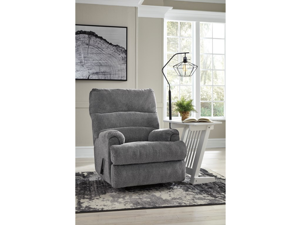 Signature Design by Ashley Man FortRocker Recliner