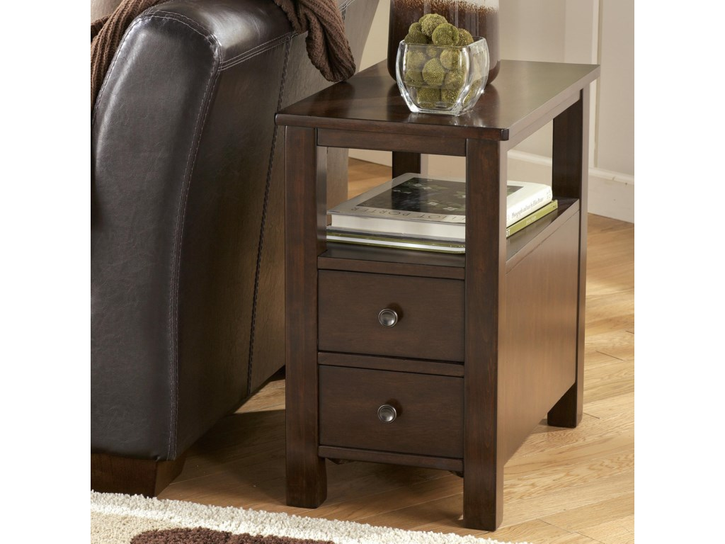 Signature MarionChairside Cabinet Table