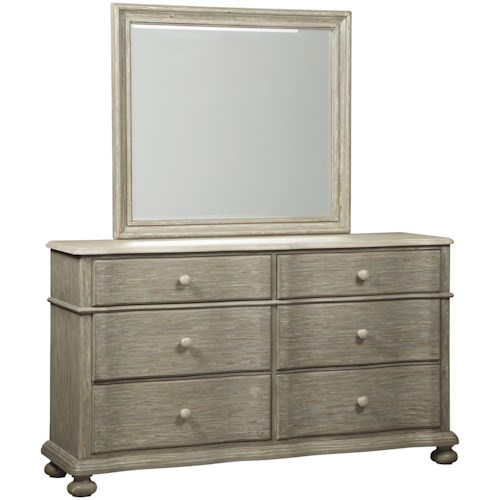 Signature Design By Ashley Marleny Cottage Style Dresser In Rustic Gray Finish Bedroom Mirror