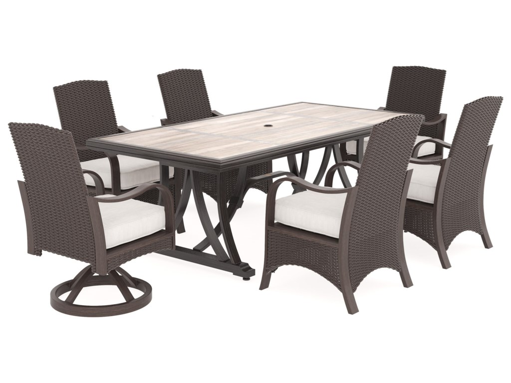 Signature Design by Ashley Marsh Creek7 Piece Outdoor Dining Set