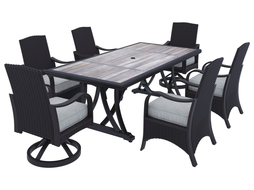 Signature Design by Ashley Marsh Creek7-Piece Outdoor Dining Set