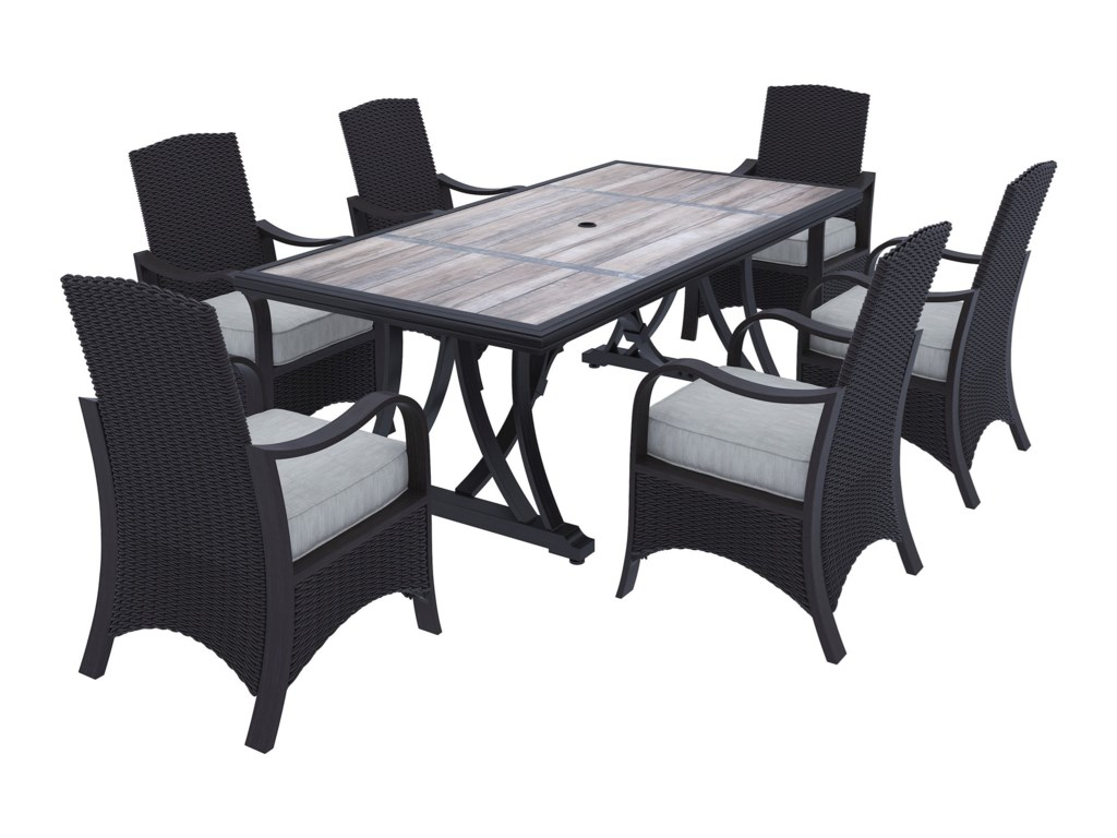 Ashley Signature Design Marsh Creek7-Piece Outdoor Dining Set