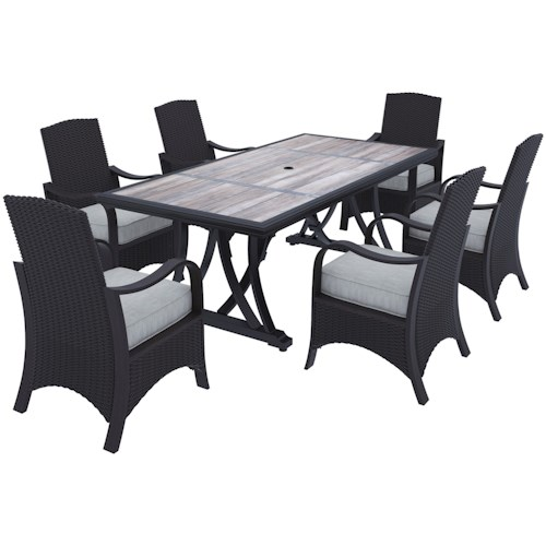 Signature Design by Ashley Marsh Creek 7-Piece Outdoor Dining Set
