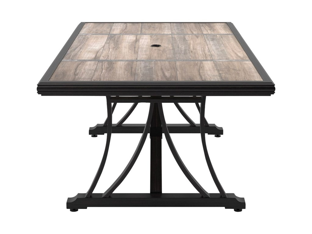 Signature Design by Ashley Marsh CreekRectangular Dining Table w/ Umbrella Option