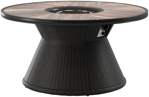 Signature Design by Ashley Marsh Creek Round Fire Pit Table