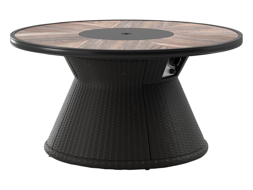 Signature Design by Ashley Marsh CreekRound Fire Pit Table