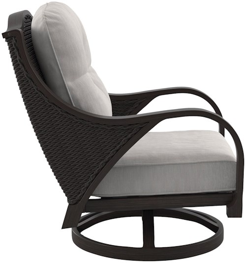Signature Design by Ashley Marsh Creek Set of 2 Swivel Lounge Chairs with Cushion