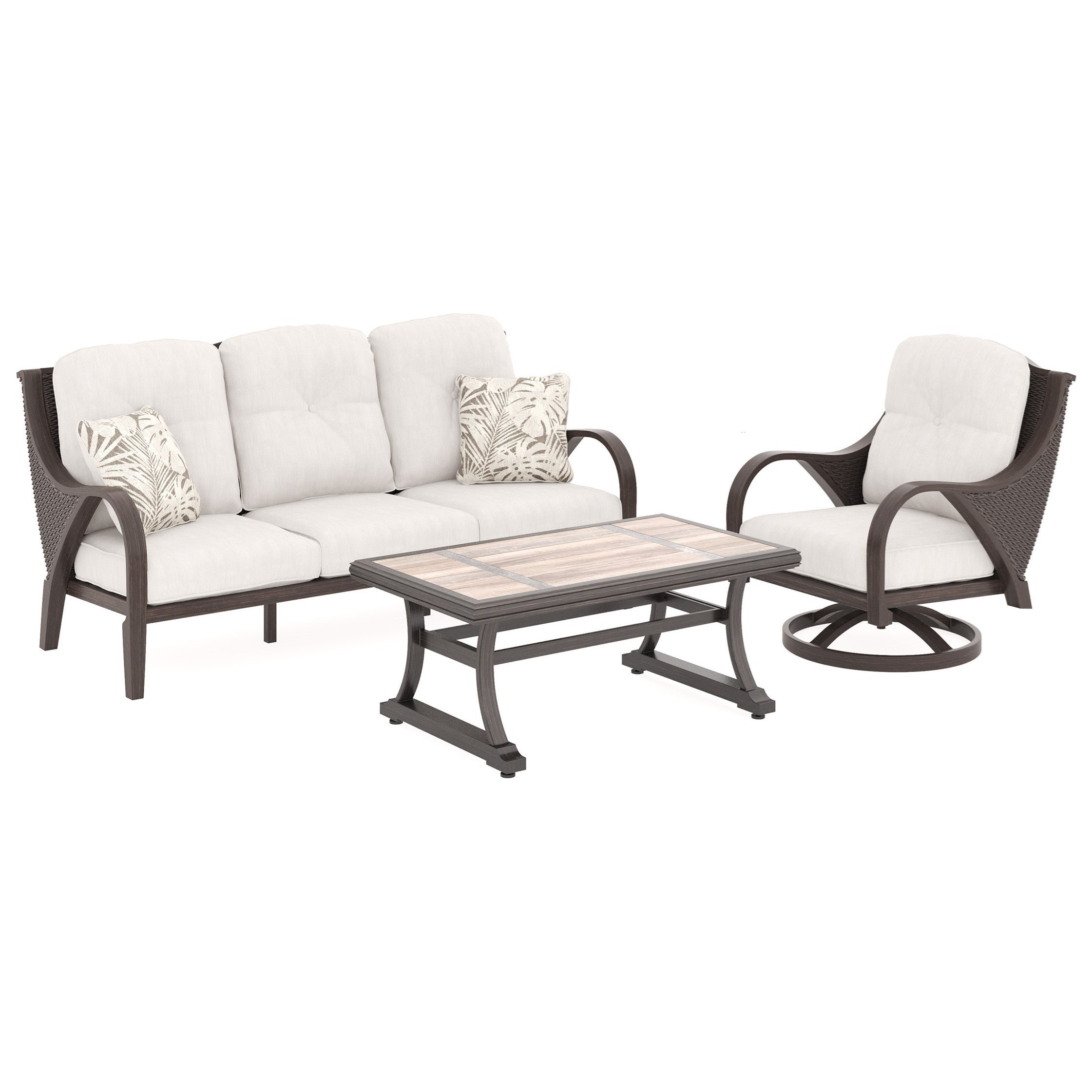 Marsh Creek Outdoor Conversation Set By Signature Design By Ashley
