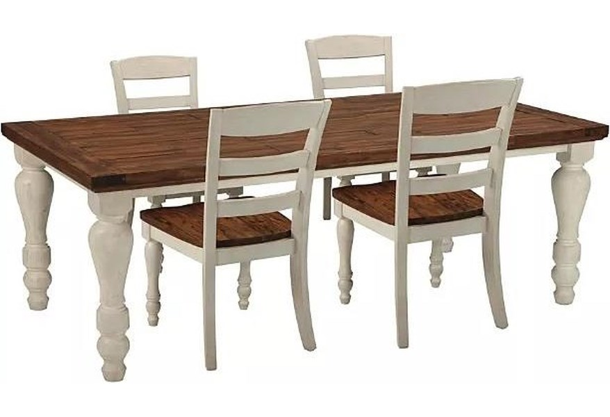 Ashley Marsilona Dining Set Includes Table And 4 Side Chairs Morris Home Dining 5 Piece Sets