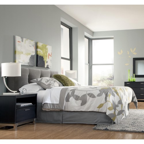 Ashley Furniture Denver Colorado: Signature Design By Ashley Masterton Queen Upholstered Headboard With Channel Tufting