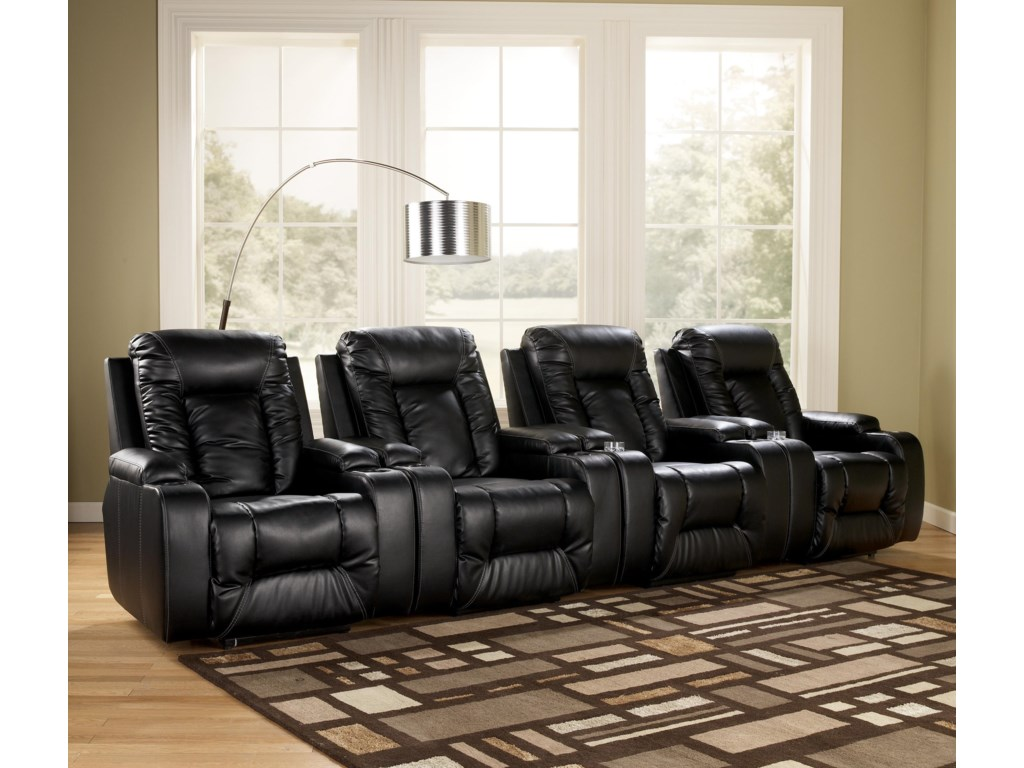 Signature Design by Ashley Matinee DuraBlend® - Eclipse4 Piece Theater Seating Group