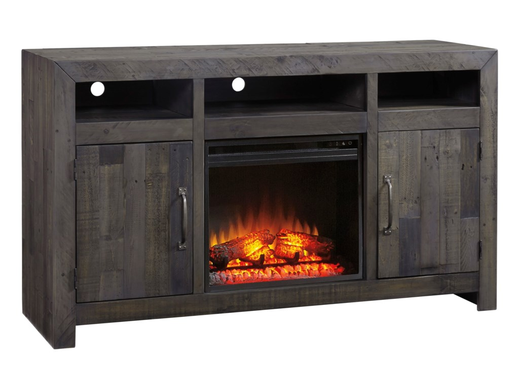 Signature Design by Ashley MayflynLarge TV Stand with Fireplace Insert