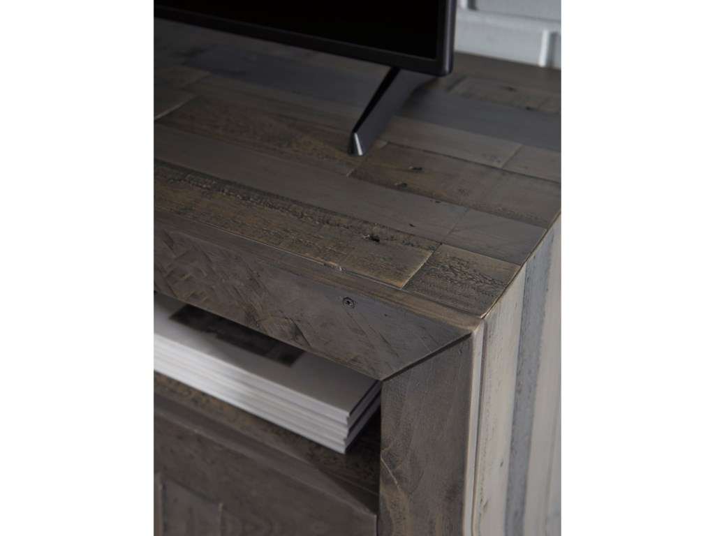 Ashley Signature Design MayflynLarge TV Stand with Fireplace Insert