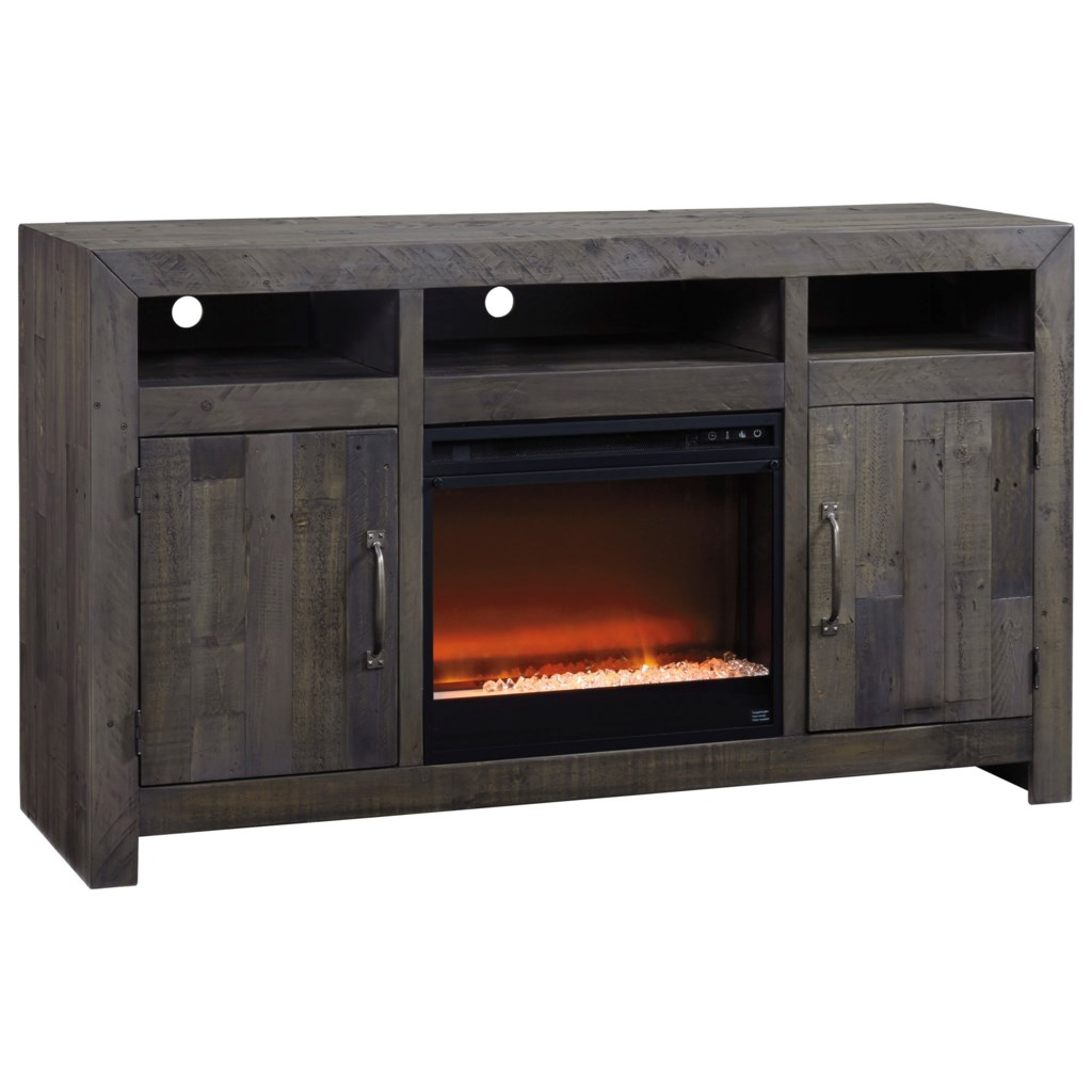 Ashley Signature Design Mayflyn Reclaimed Solid Wood Large Tv Stand
