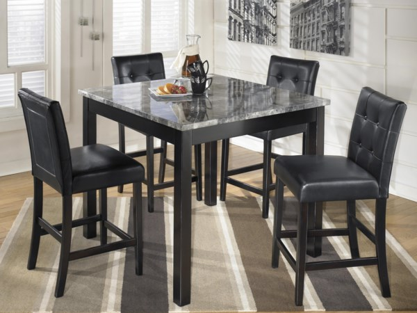 Square Counter Table Set