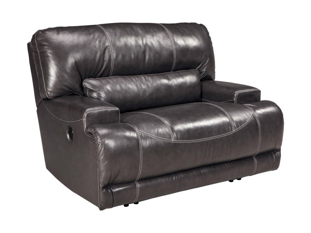 signature design by ashley mccaskill contemporary leather match  - signature design by ashley mccaskill contemporary leather match wide seatpower recliner  furniture and appliancemart  three way recliners