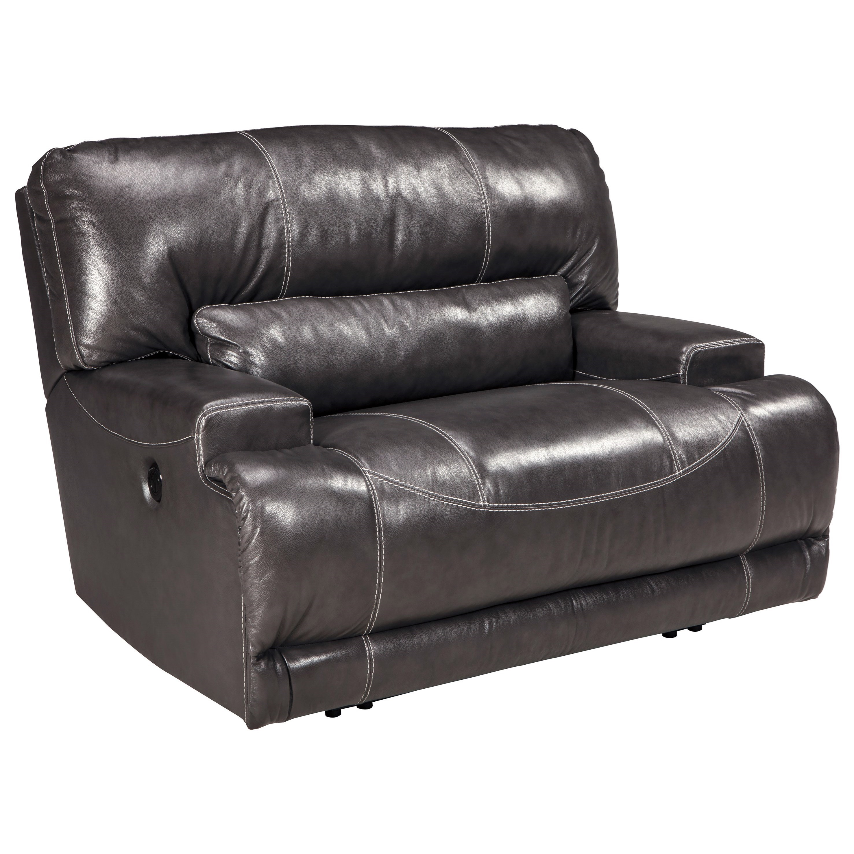 Signature Design by Ashley McCaskill Contemporary Leather Match Wide Seat Power Recliner - Furniture and ApplianceMart - Three Way Recliners  sc 1 st  Furniture and ApplianceMart & Signature Design by Ashley McCaskill Contemporary Leather Match ... islam-shia.org