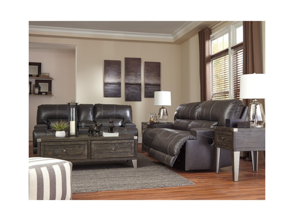 Signature Design by Ashley McCaskillDouble Reclining Loveseat w/ Console