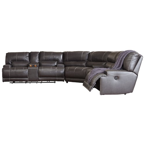 Signature Design By Ashley McCaskill Contemporary Piece Leather - 3 piece leather sectional sofa