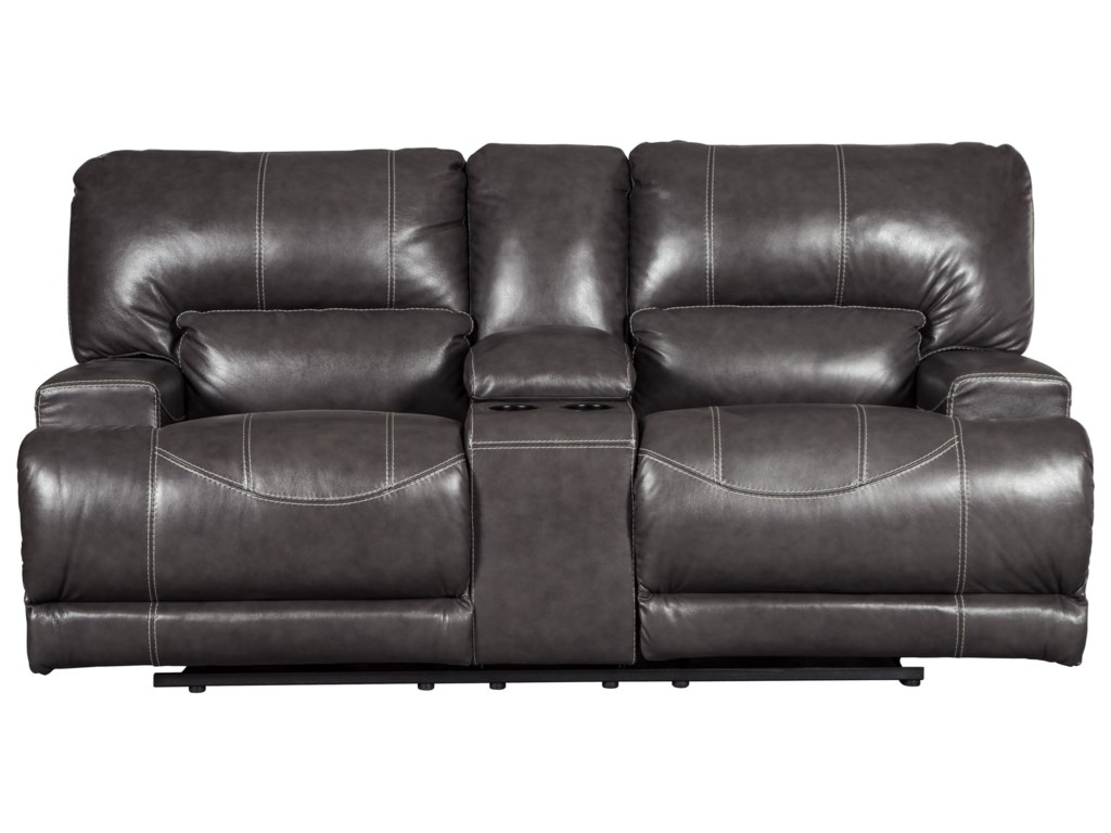 Signature Design by Ashley McCaskillDouble Reclining Power Loveseat w/ Console