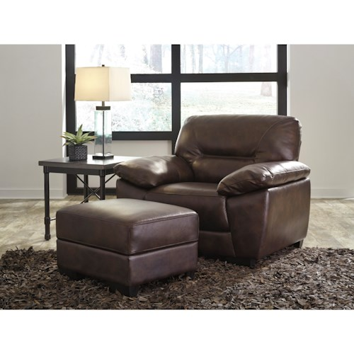 Signature Design by Ashley Mellen Contemporary Chair and Ottoman