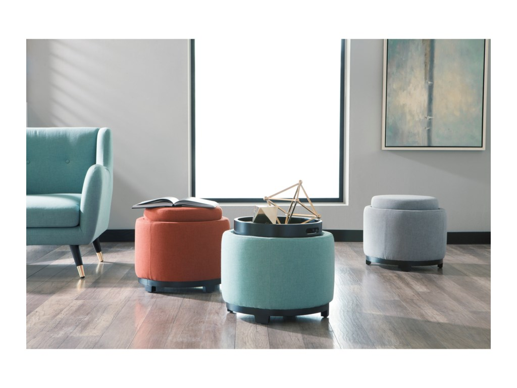 Signature Design by Ashley MengaAccent Chair & Ottoman with Storage