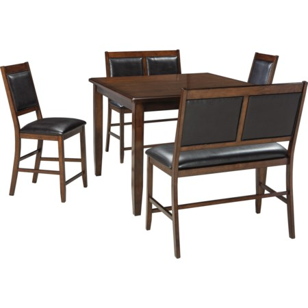 5-Piece Dining Room Counter Table Set