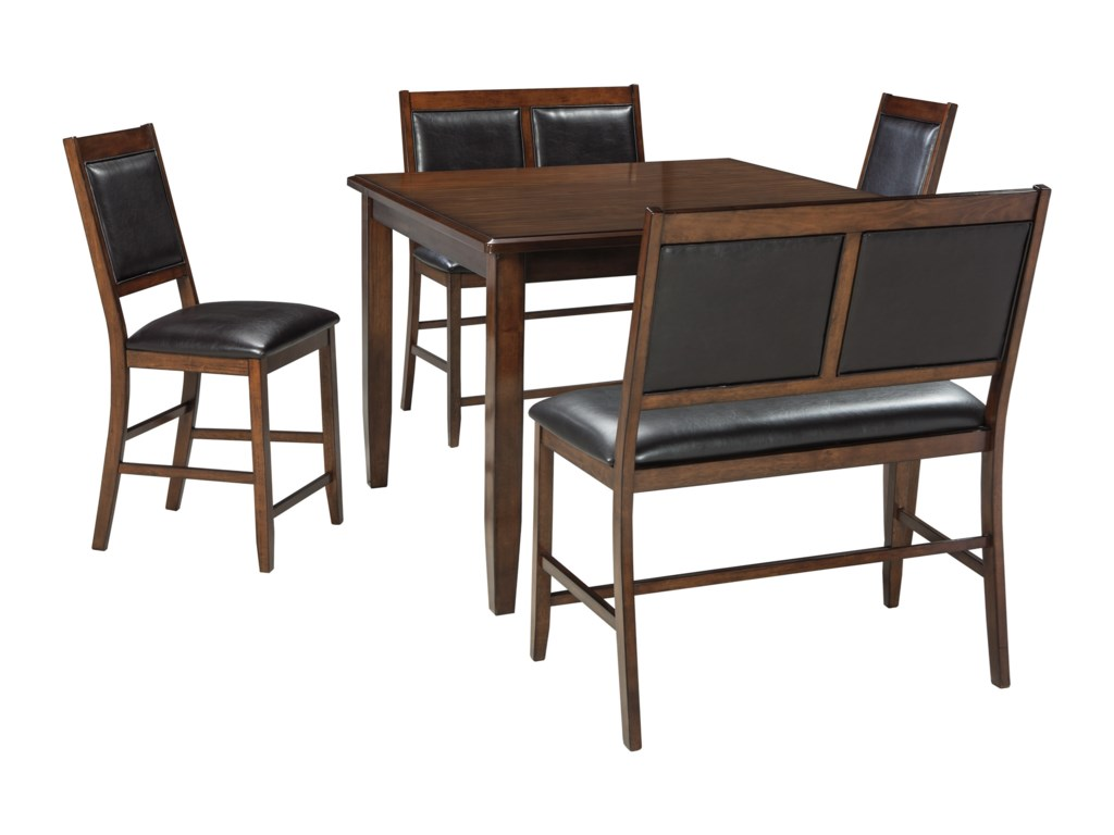 Ashley (Signature Design) Meredy5-Piece Dining Room Counter Table Set