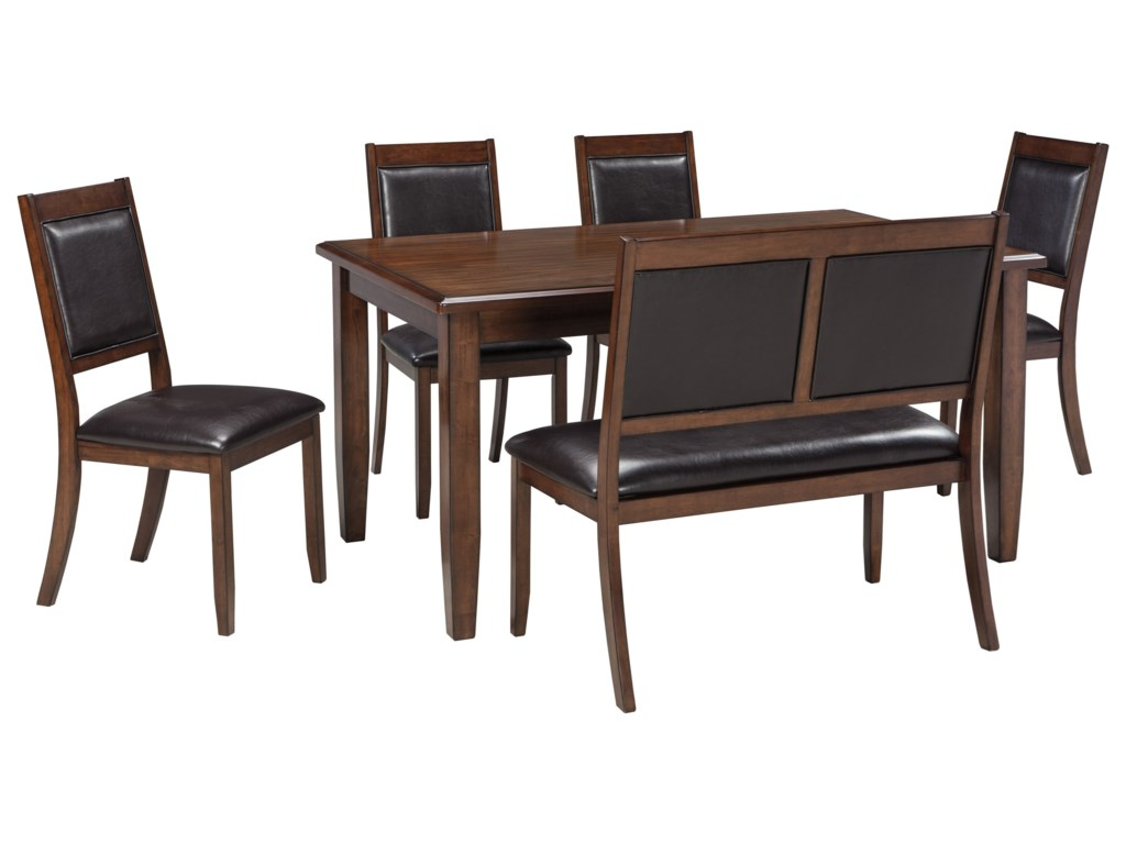 Signature Design by Ashley Meredy 6-Piece Dining Room Table Set ...