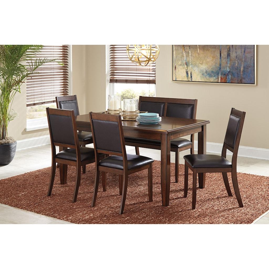 signature designashley meredy 6-piece dining room table set