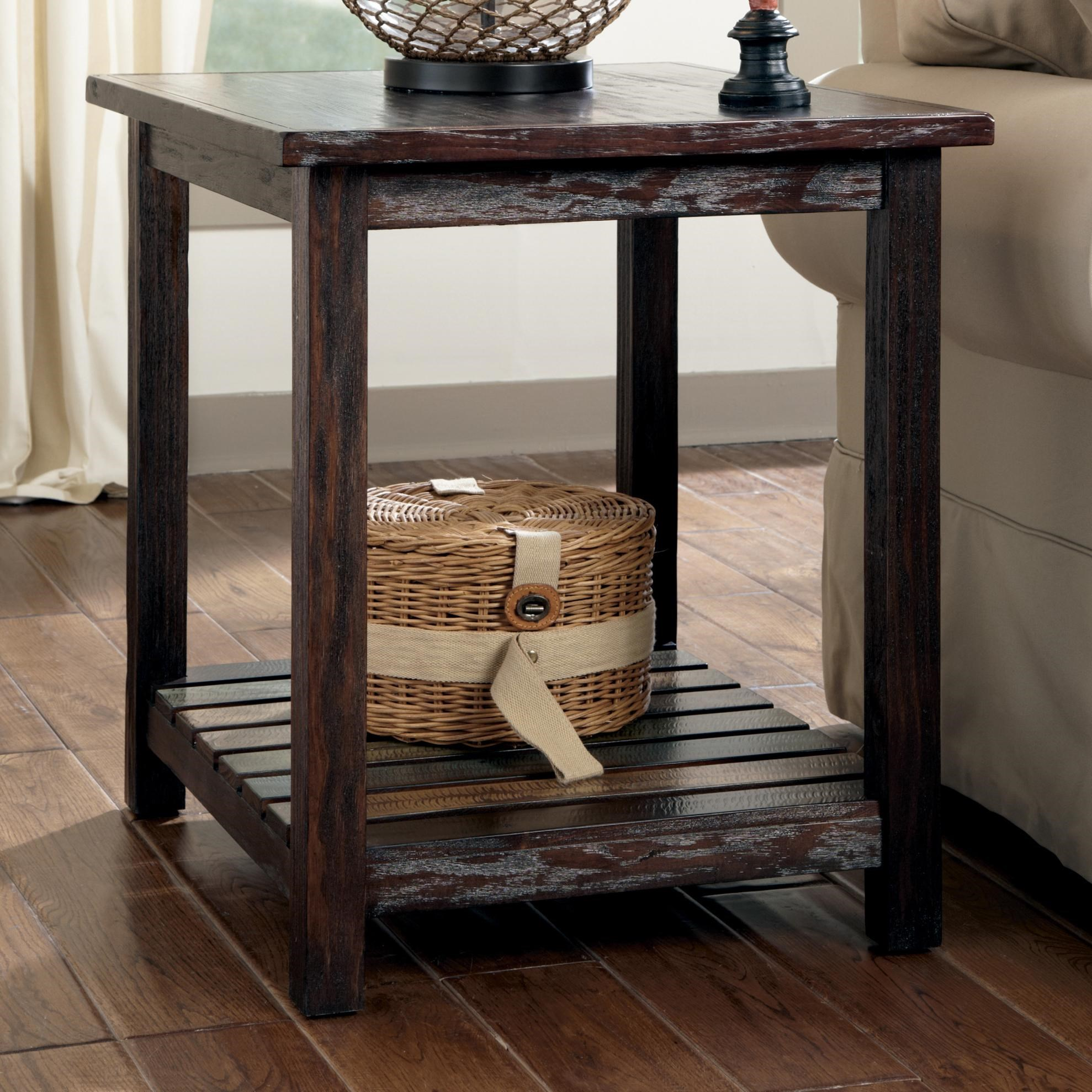 Attrayant Signature Design By Ashley ReclaimedRectangular End Table ...