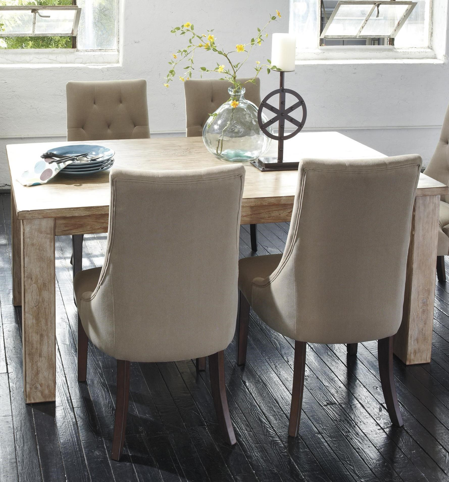 Signature Design By Ashley Mestler Table With 4 Upholstered Side Chairs    Miskelly Furniture   Casual Dining Room Group