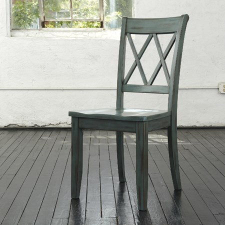 Antique Blue/Green Dining Room Side Chair
