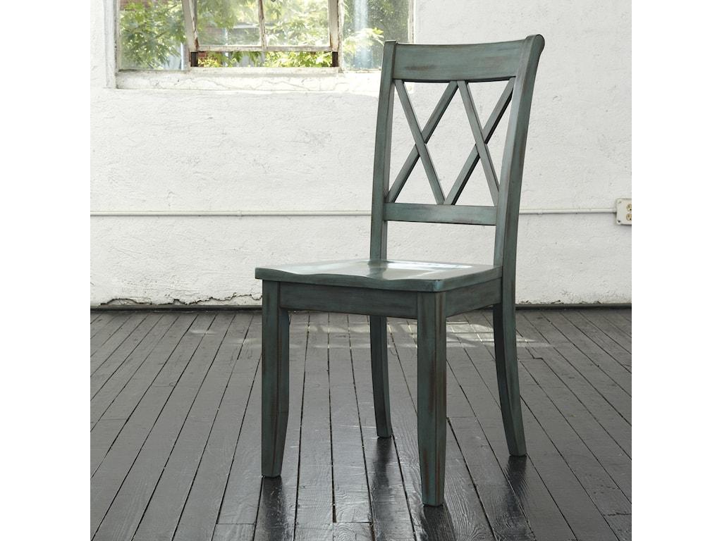 Ashley (Signature Design) MestlerAntique Blue/Green Dining Room Side Chair