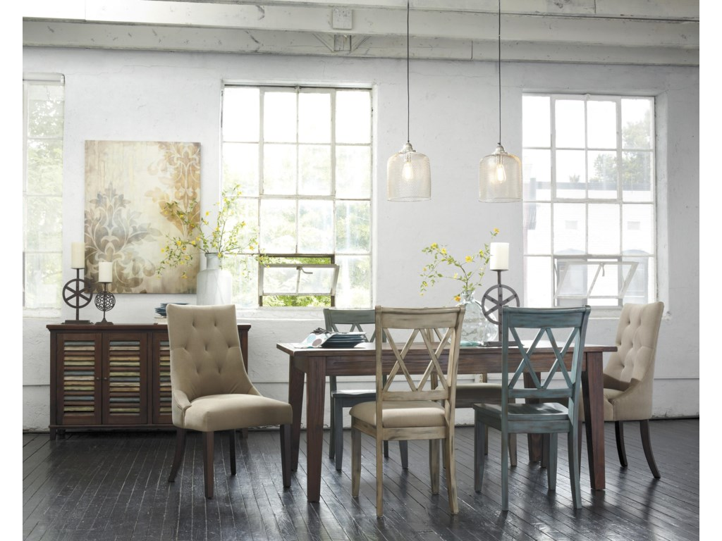 Signature Design by Ashley Mestler Antique Blue/Green Dining Room ...