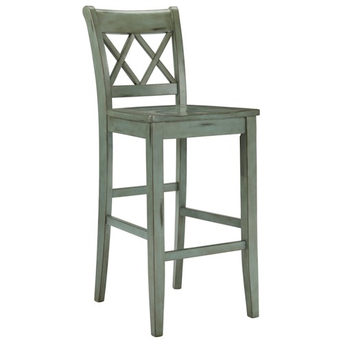 Signature Design by Ashley Mestler Antique Blue/Green Tall Barstool