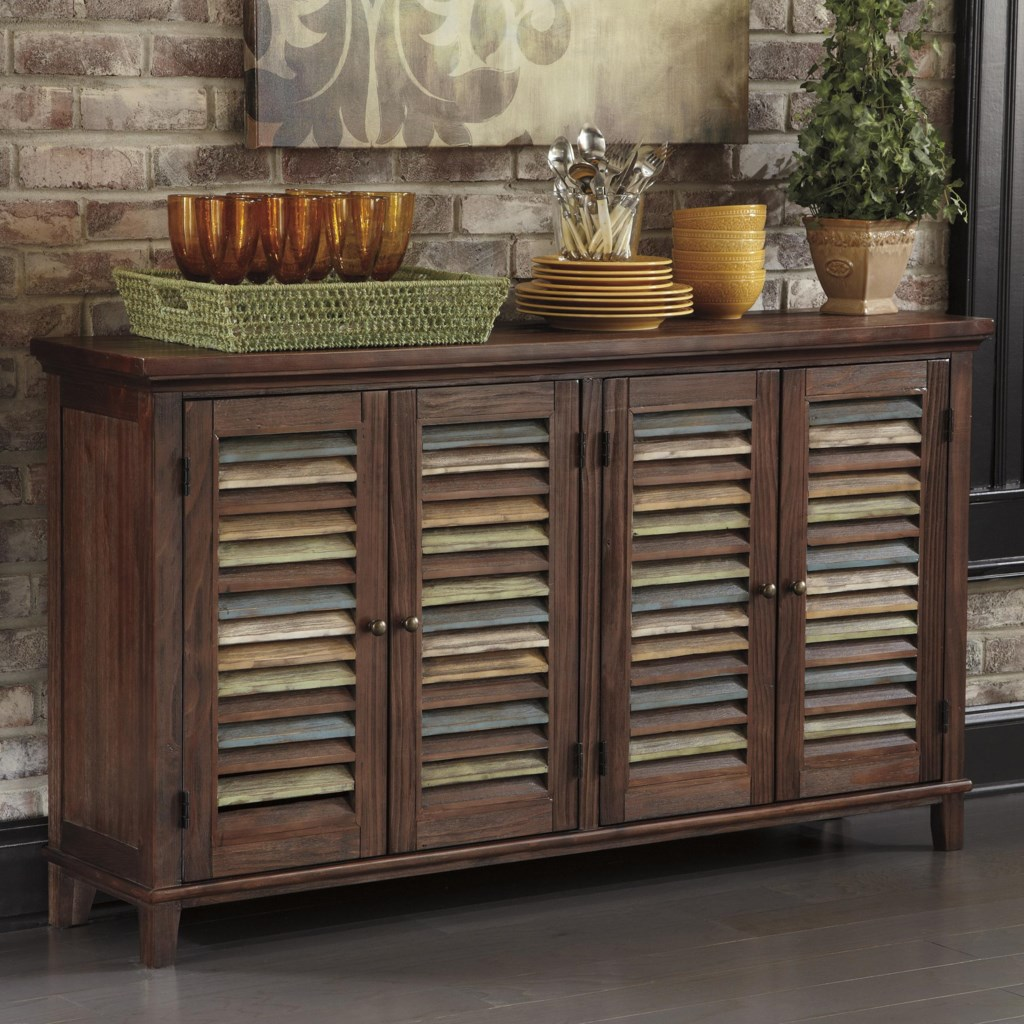 ashley signature design mestler dining room server with color