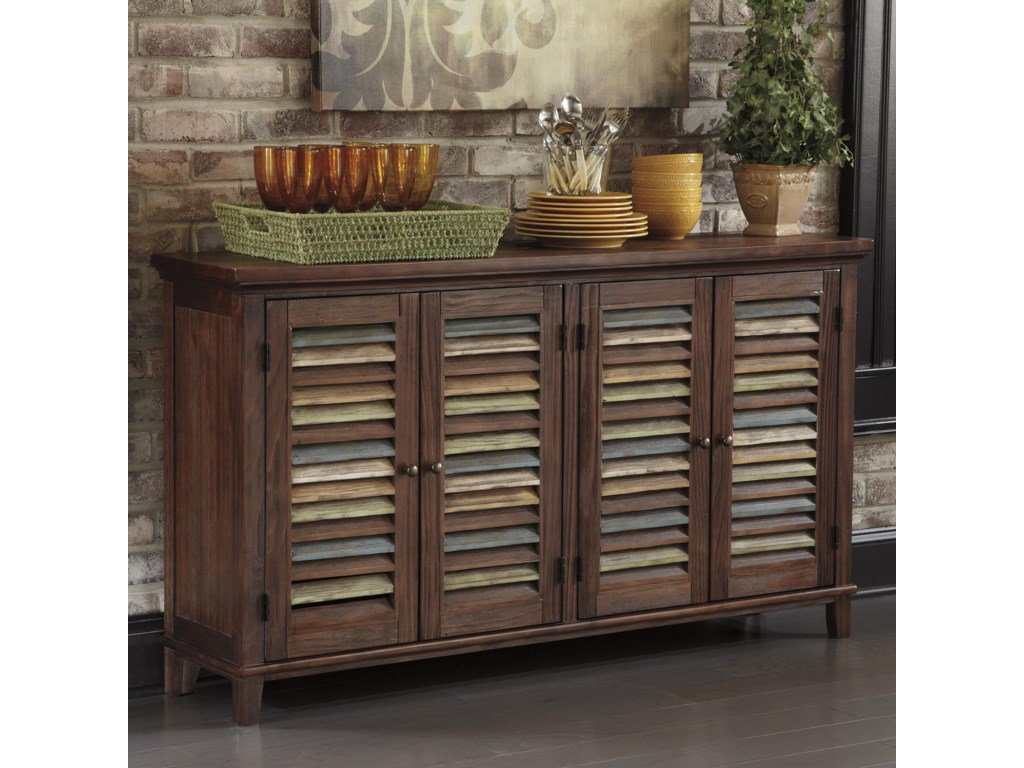 Ashley Signature Design Mestler Dining Room Server With Color Accent Doors