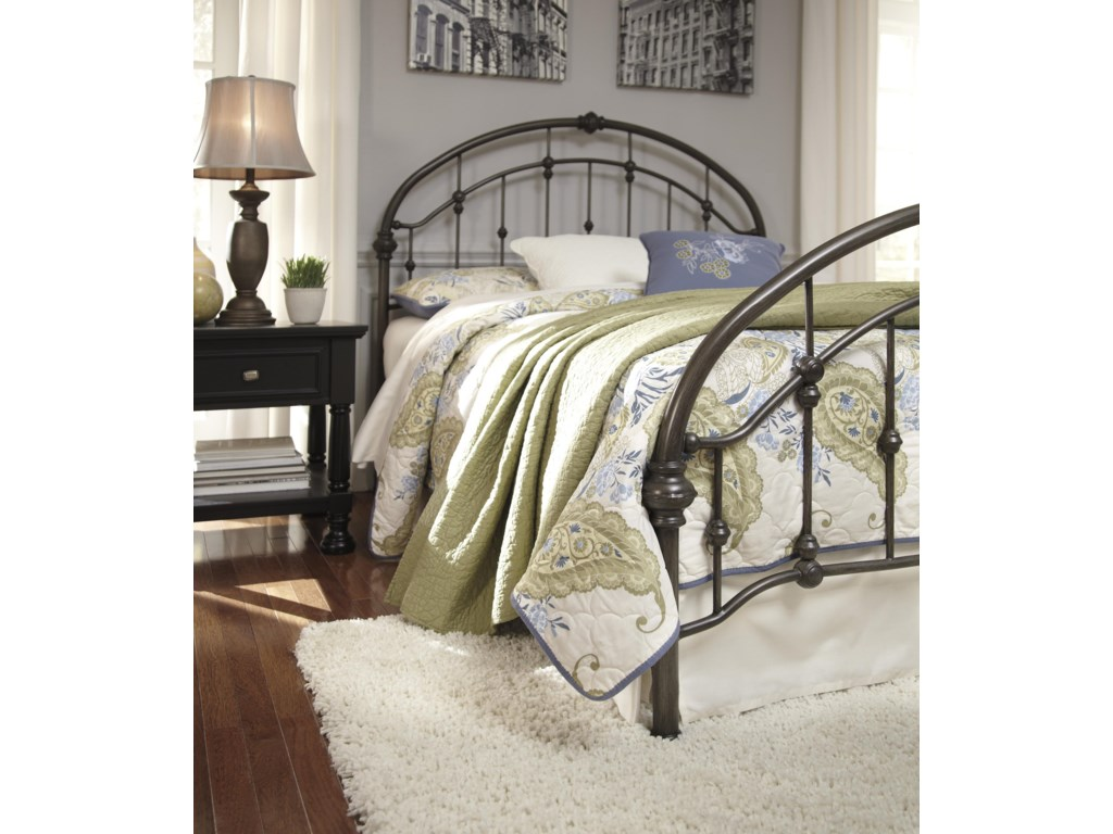 Signature Design by Ashley NashburgQueen Metal Bed