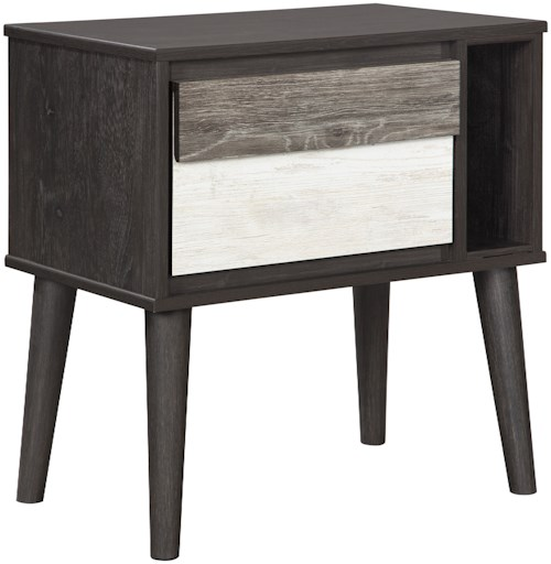 Signature Design by Ashley Micco Contemporary One Drawer Night Stand with USB Port
