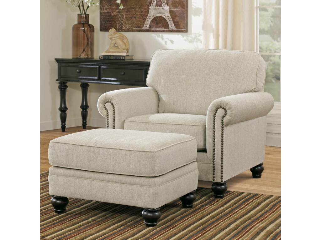Signature Design by Ashley Milari - LinenChair & Ottoman