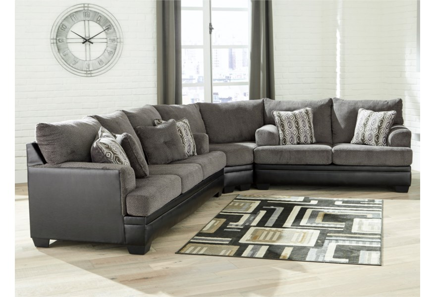 Benchcraft Millingar Contemporary Sectional with Sleeper ...