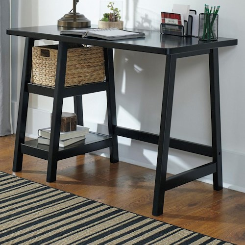 Signature Design by Ashley Mirimyn Home Office Small Desk with Woven Basket