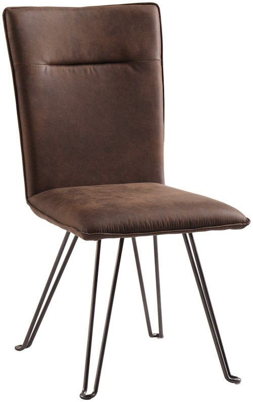Signature Design by Ashley Moddano Dining Upholstered Side Chair with Metal Hairpin Legs