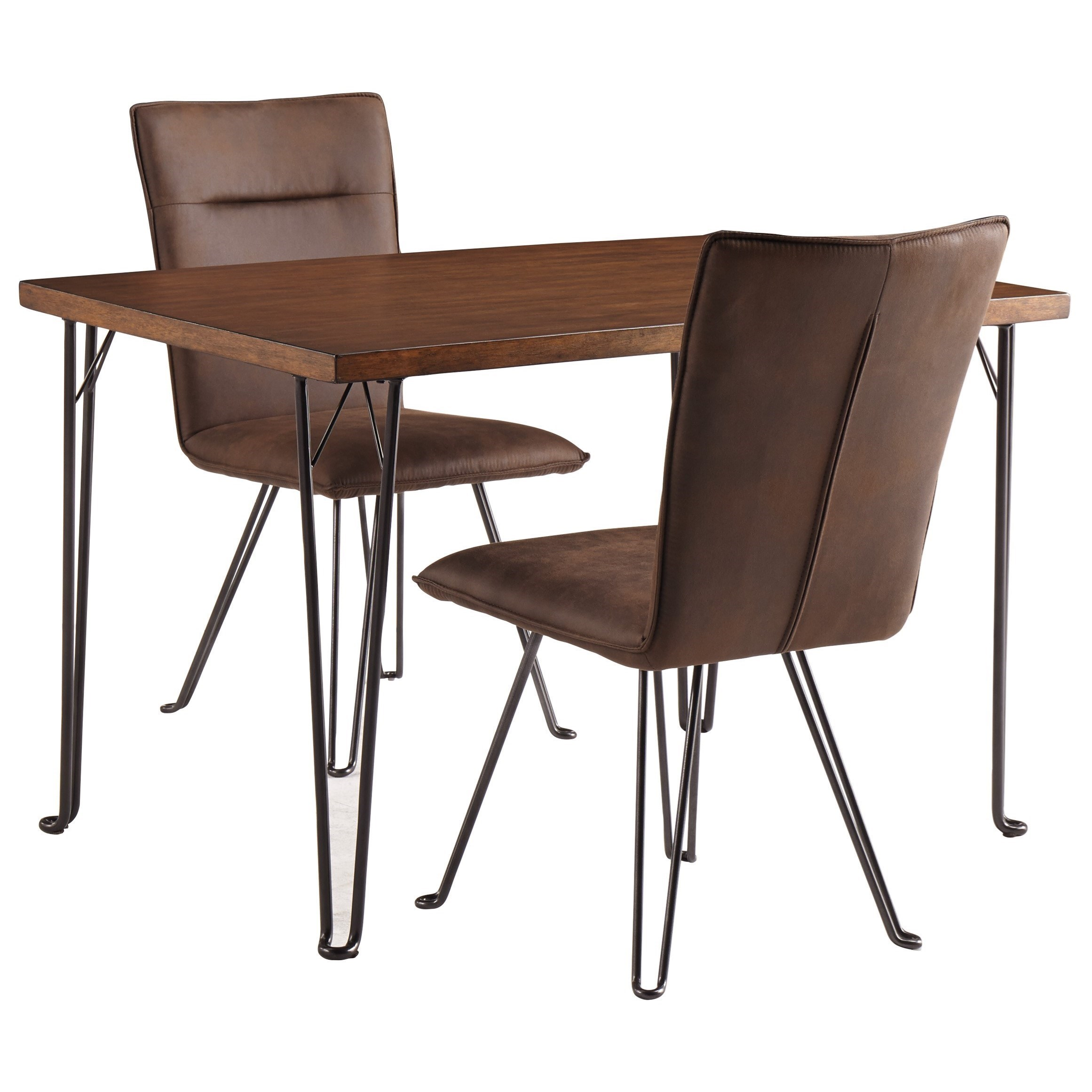 3 piece dining table set diner table signature design by ashley moddano3 piece dining set moddano rectangular table